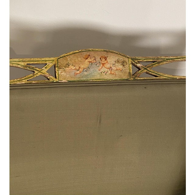 Gold Painted Fainting Chair, England Circa 1810 For Sale - Image 8 of 11