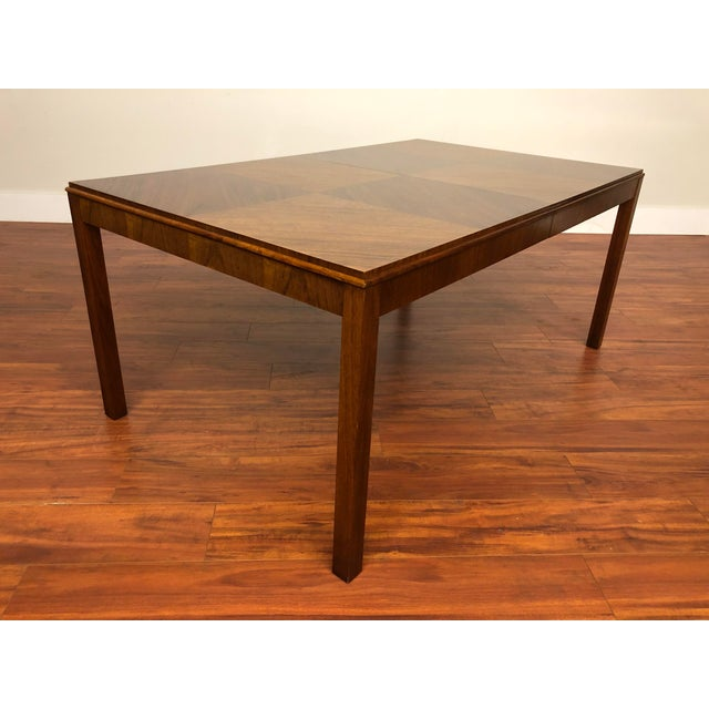 Maurice Villency large dining table with two leaves, it appears to be walnut, but we aren't positive. This vintage wood...