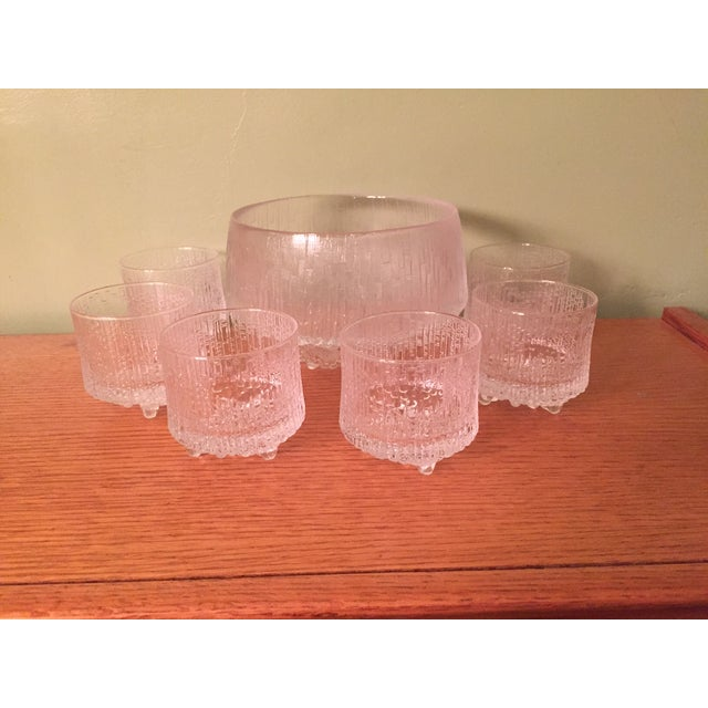 A great set of six Tapio Wirkkala glasses, these glasses where originally used on Finnair airlines. Some still have the...