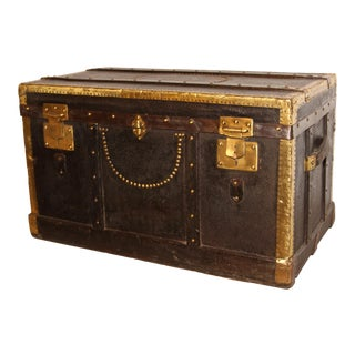 Antique French Trunk For Sale