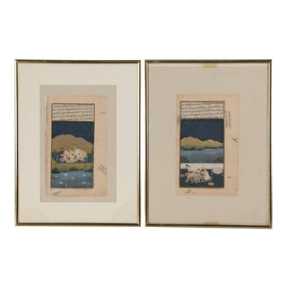 Mughal Period Illuminated Erotic Persian Manuscripts - a Pair For Sale