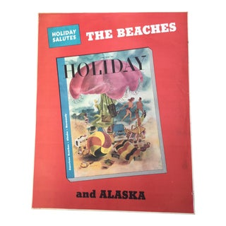 Vintage 1940's Holiday Magazine Newsstand Poster