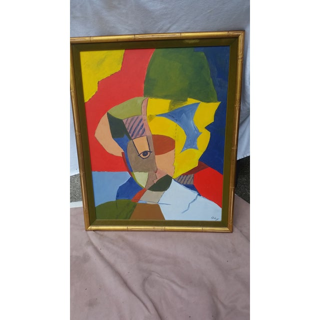 Vintage Abstract Painting From the 1960s - Image 3 of 8