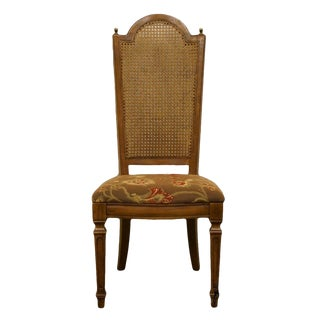 Late 20th Century Vintage Thomasville Furniture Cellini Collection Cane Back Dining Side Chair For Sale