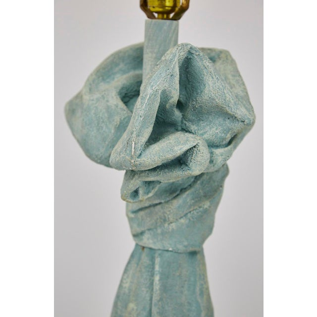 Vintage Dickinson Style Plaster Floor Lamp in Form of Draped Cloth For Sale - Image 9 of 11