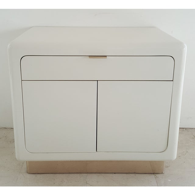 1970's Lacquered & Brass Plinth Side Cabinet - Image 2 of 6