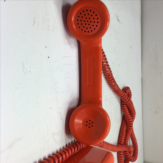 Bright Orange Push Button Wall Phone For Sale - Image 10 of 11