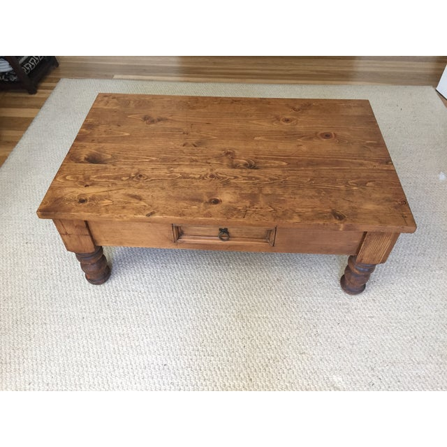 1980s Vintage Bun-Foot Coffee Table For Sale - Image 5 of 11