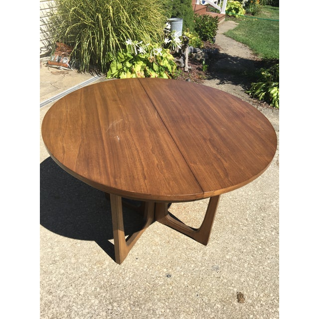 Coffee Broyhill Emphasis Mid Century Dining Room Table For Sale - Image 8 of 12