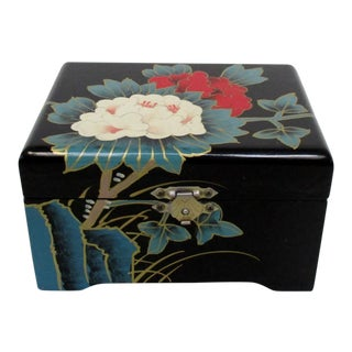 Chinese Black Lacquer Box