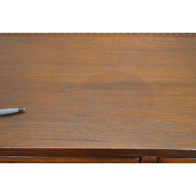 Drexel Heritage Covington Park Collection Regency Style Leather Top Mahogany Writing Desk (A) For Sale - Image 12 of 13