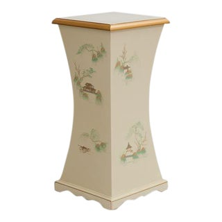 Hand Painted Chinoiserie Pedestal