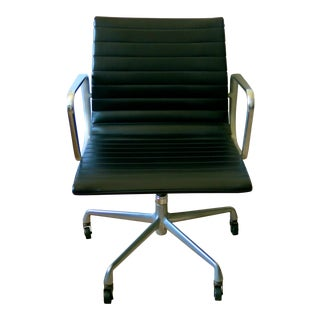 Eames-Herman Miller Aluminum/Leather Group Management Chair For Sale