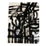 Image of Original Wayne Cunningham Abstract Black & White Painting For Sale