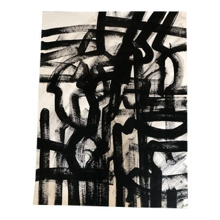 Original Wayne Cunningham Abstract Black & White Painting For Sale