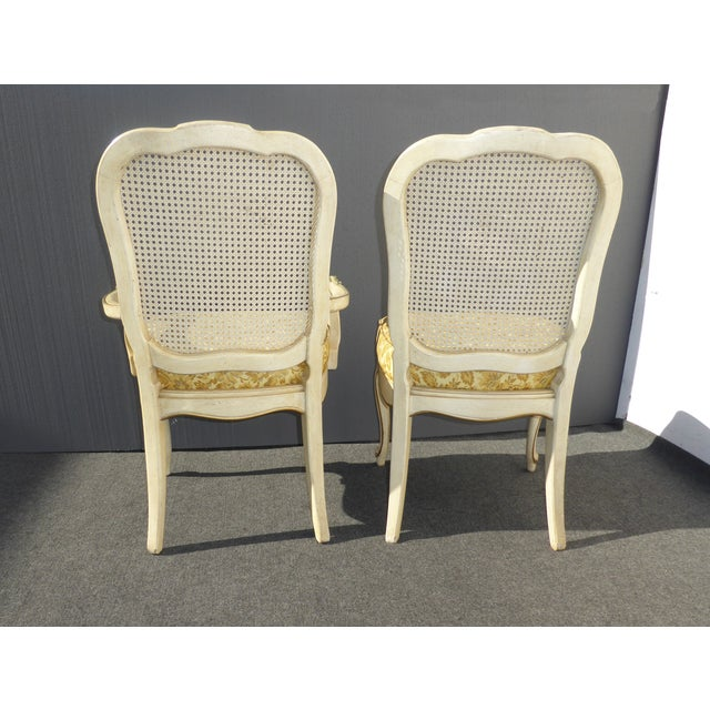 Thomasville French Cane Dining Chairs - Set of 6 For Sale - Image 7 of 11