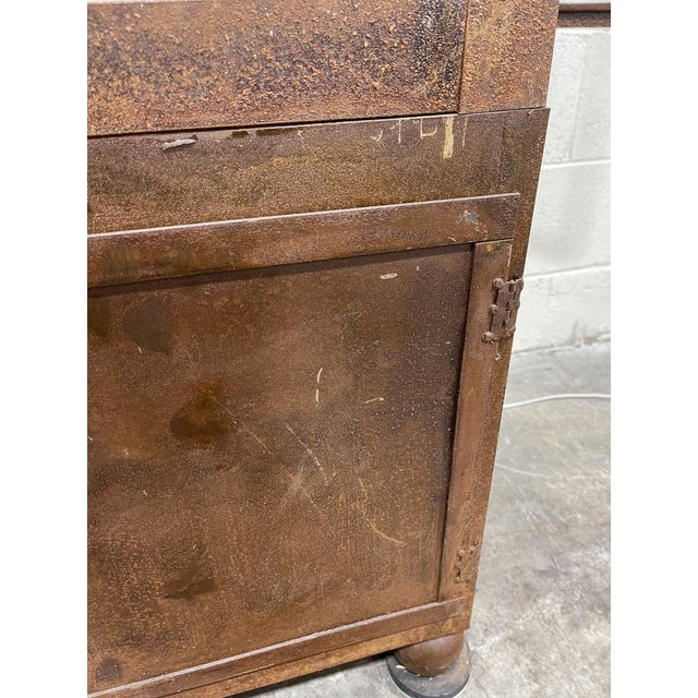 Pagoda Style Rustic Glass Metal Display Case For Sale In Richmond - Image 6 of 13