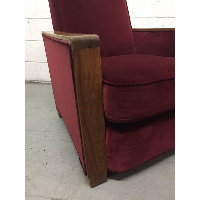 1930s Pair Art Deco Club Chairs Attributed to Jacques Adnet For Sale - Image 5 of 6