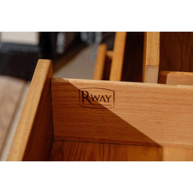 Mahogany Gorgeous Rway Six-Drawer Chest in Blonde Mahogany and Bird's-Eye Maple For Sale - Image 7 of 11