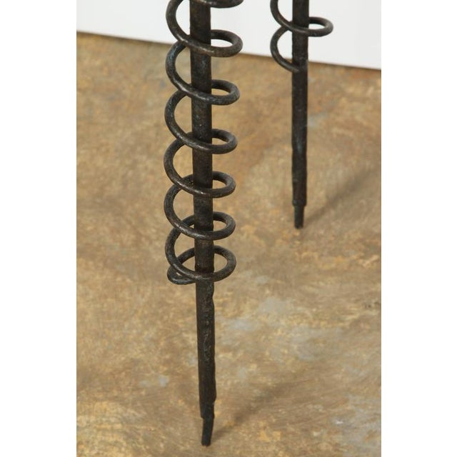 Sculptural Bronzed Iron Side Table - Image 6 of 7