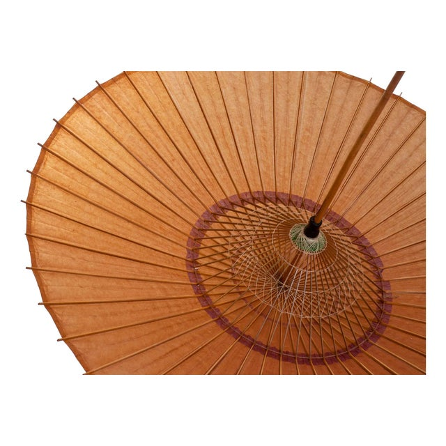 Asian Antique Chinese Parasol For Sale - Image 3 of 5