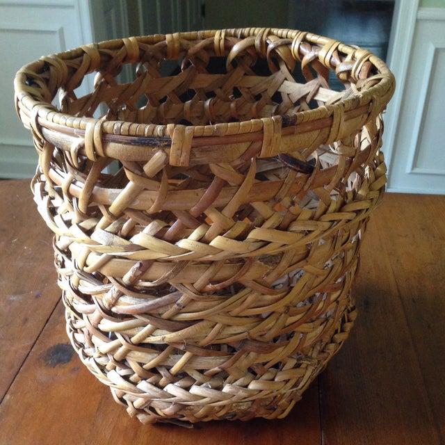 Large Vintage Rattan Planter Basket - Image 2 of 11
