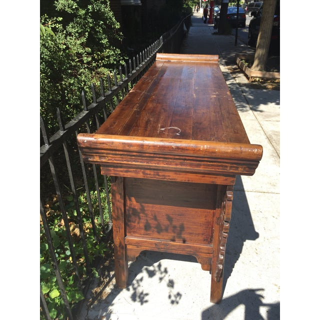 Antique Carved Wood Console - Image 6 of 10