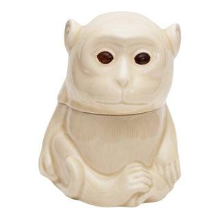 1950s Japanese Porcelain Monkey Lidded Box For Sale