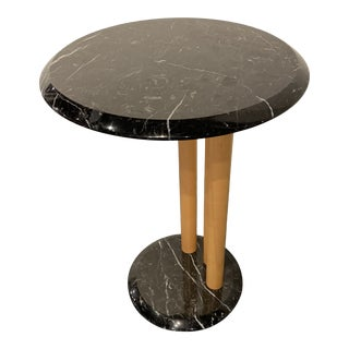 1980's Italian Marble Drink Table For Sale