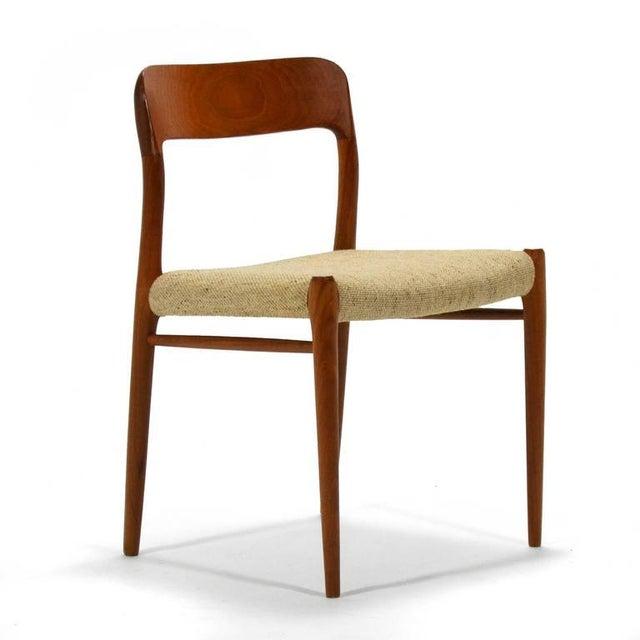 J.L. Møllers Møbelfabrik Niels O. Møller Set of Six Model 75 Chairs For Sale - Image 4 of 9