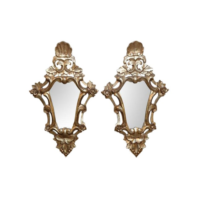 19th Century Italian Wall Mirrors - a Pair For Sale