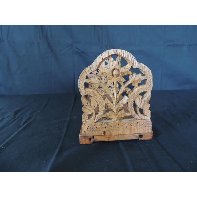 Islamic Hand Carved Folding Indian Bookstand or Shelf For Sale - Image 3 of 8