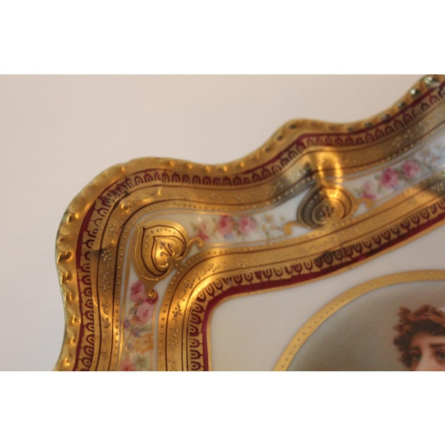 Gilded Classical Muse Portrait Ornate Bowl For Sale - Image 4 of 8