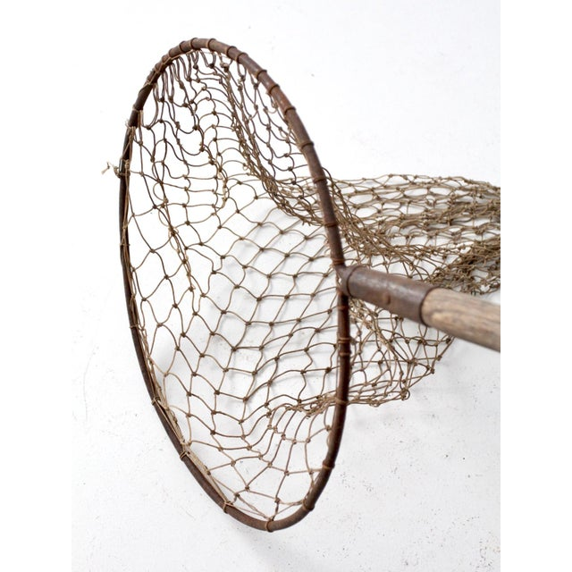 Antique Pole Fishing Net For Sale - Image 5 of 9