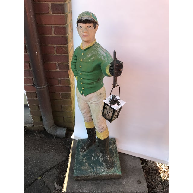 Country Concrete Lawn Jockey Statue For Sale - Image 3 of 8