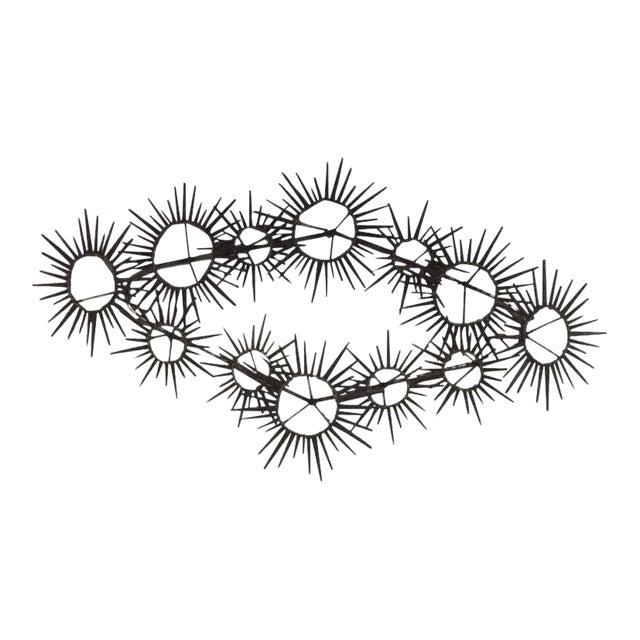 Mid-Century Modern Brutalist Sunburst Starburst Metal Nail Wall Art ...