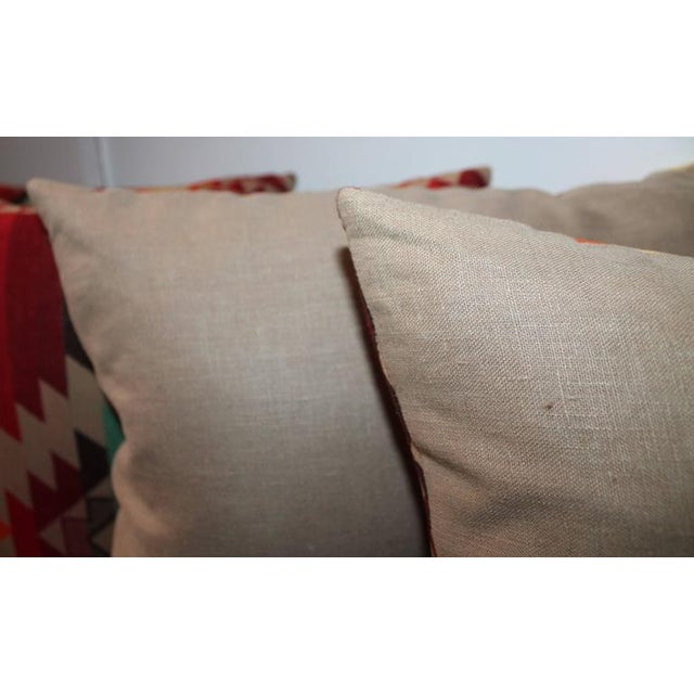 Amazing Flying Geese and Striped Pendleton Pillows For Sale - Image 5 of 8