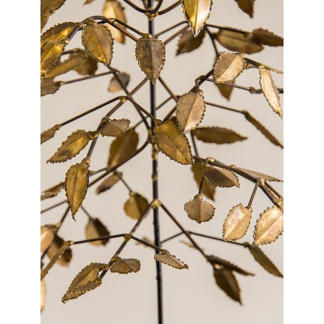 Vintage French Mid Century Gilded Metal Sculpture, Bertoia and Jere Style, circa 1965 For Sale - Image 4 of 5