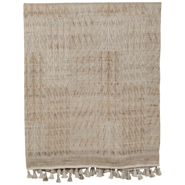 2010s Indian Handwoven Bedcover Tree Natural For Sale - Image 5 of 5