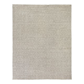Exquisite Rugs Bazas Handwoven Cotton & Viscose Beige - 9'x12' For Sale