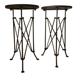 Traditional Iron Tray Tables - a Pair
