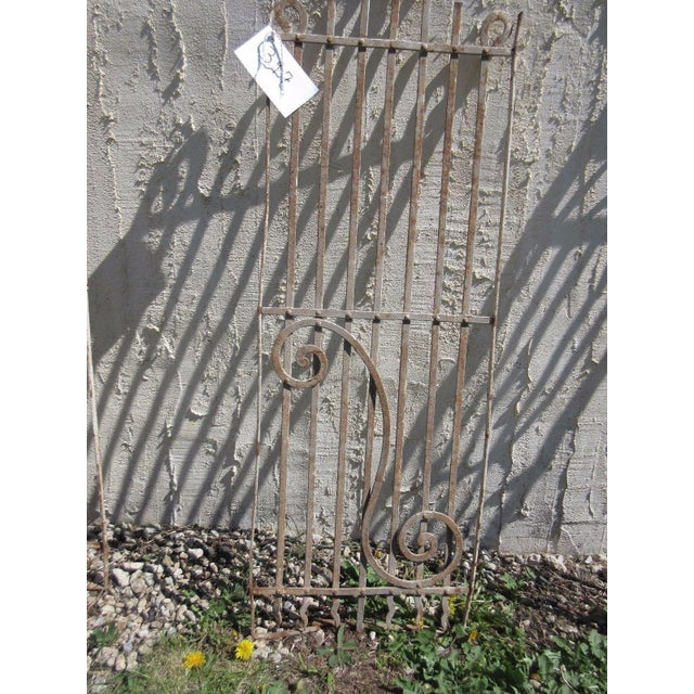 Antique Victorian Iron Gate Salvage For Sale - Image 4 of 6