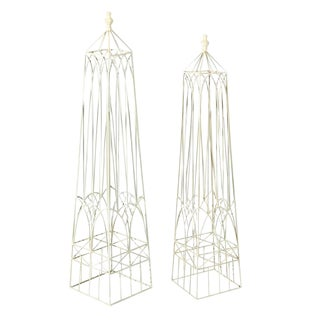 White Garden Obelisks - A Pair