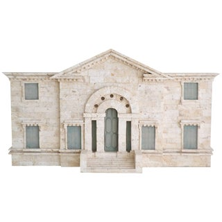 Postmodern Tessellated Stone Architectural Model For Sale