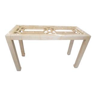 Henredon Fretwork Console Table