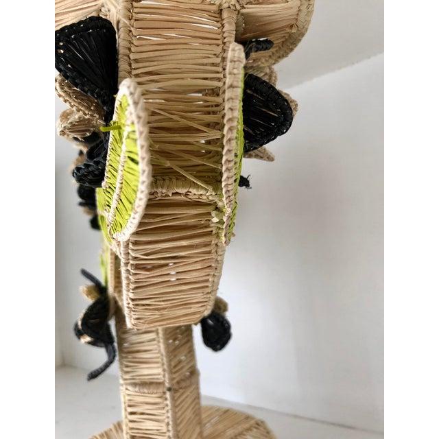 Mercedes Salazar Handmade Straw Candleholder For Sale - Image 4 of 7