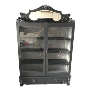Late 19th Century Antique Painted Display Cabinet For Sale