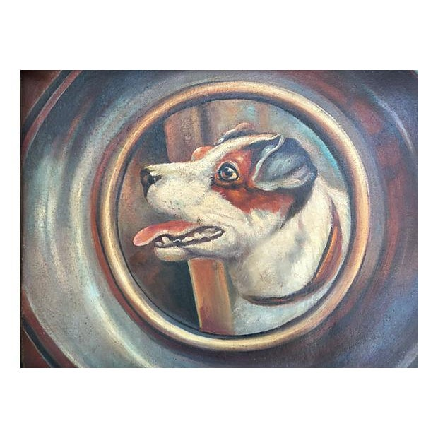 Jack Russell Portrait in Tramp Art Frame - Image 2 of 7