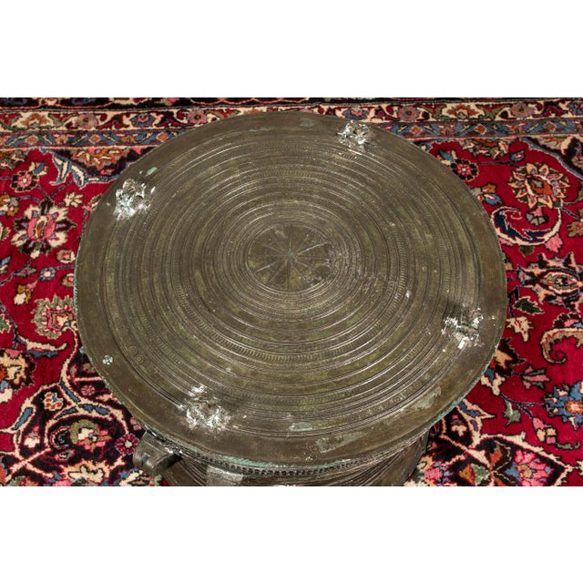 Asian South Asian Bronze Rain Drum Table For Sale - Image 3 of 10