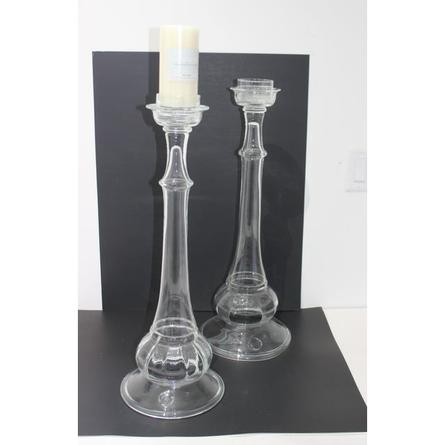 Vintage Blenko Glass Candle Holders - a Set of 2 For Sale - Image 10 of 13